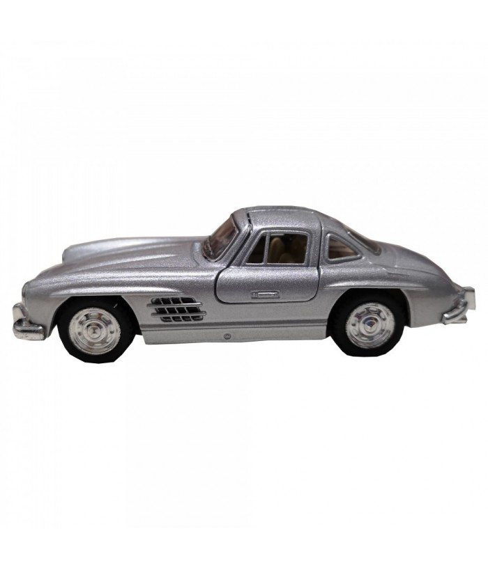 Masinuta Mercedes-Benz 300SL Coupe (1954) GoKi, gri, die-cast, 12.8 cm
