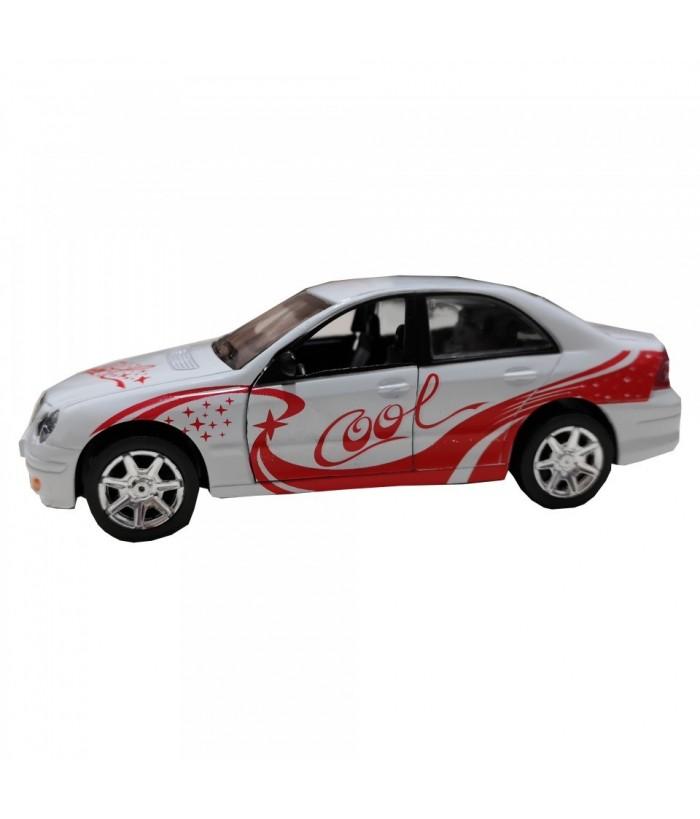 Masinuta Sport Cool Car, GoKi, alba, lumini si sunet, die-cast, 15 cm