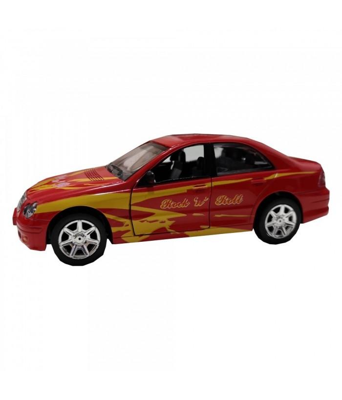 Masinuta Sport Rock 'n' Roll Car, GoKi, rosie, lumini si sunet, die-cast, 15 cm