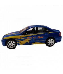 Masinuta Sport Rock 'n' Roll Car, GoKi, albastra, lumini si sunet, die-cast, 15 cm