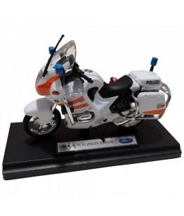Motocicleta BMW R1100 RT (Police Version), GoKi, alb/portocaliu, die-cast, 13 cm