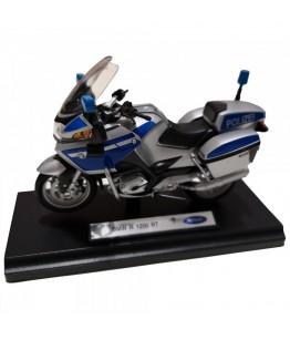 Motocicleta BMW R1200 RT (Police Version), GoKi, gri/albastru, die-cast, 13 cm