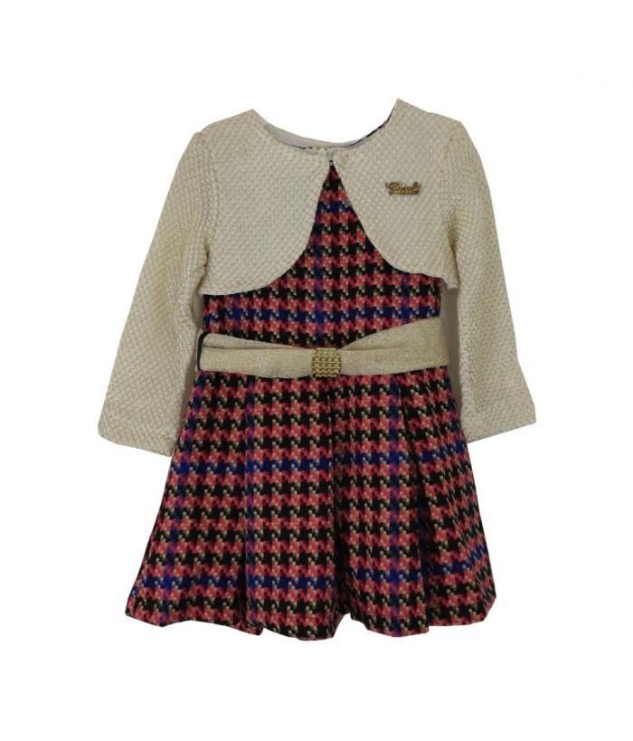 Rochie pentru fetita cu bolero, Venus, 2 ani, stofa