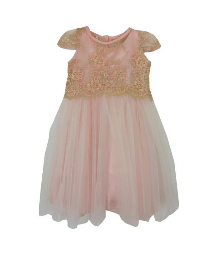 Rochita pentru fete, Adelyn Pink, 8-10 ani, tulle fin, 128-140 cm