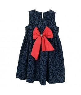 Rochita de zi pentru fetite Jade, stofa bleumarin, 6 ani, 116 cm