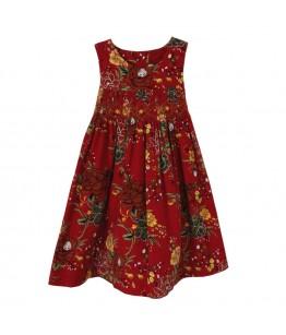 Rochia de zi fetite, Zurina, stofa cu imprimeuri florale, 3 ani, 98 cm
