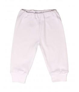 Pantaloni cu manseta albi, 1-6 luni, bumbac