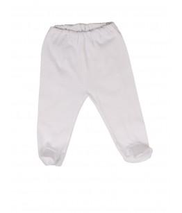 Pantaloni cu botosei albi, 0-6 luni, 48-70 cm, bumbac