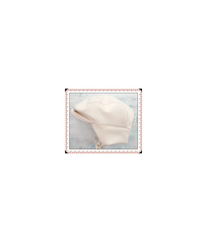 Sapca Botez Stofa Adin, ivoire, 6-9 luni, 68-74 cm, Mic Pitic