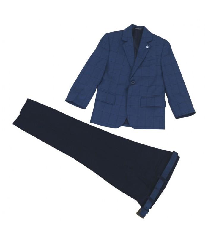 Costum elegant baiat Ayan, bleumarin, 4-7 ani