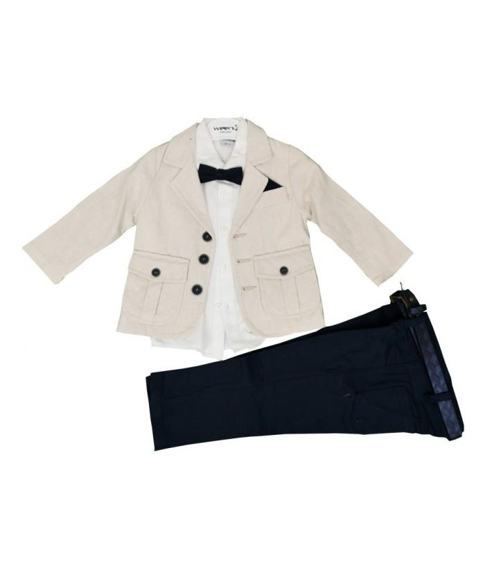 Costum baieti, 4 piese, 3-4 ani, 98-104 cm, JuliaKids, 9530