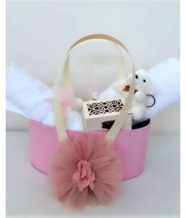 Trusou de botez pentru fete Elegance Pink