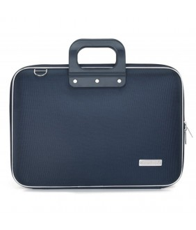 Geanta lux business laptop 15.6 in Clasic nylon Bombata-Bleumarin