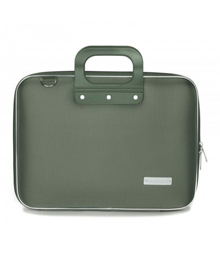 Geanta lux business laptop 13 in Nylon Bombata-Verde
