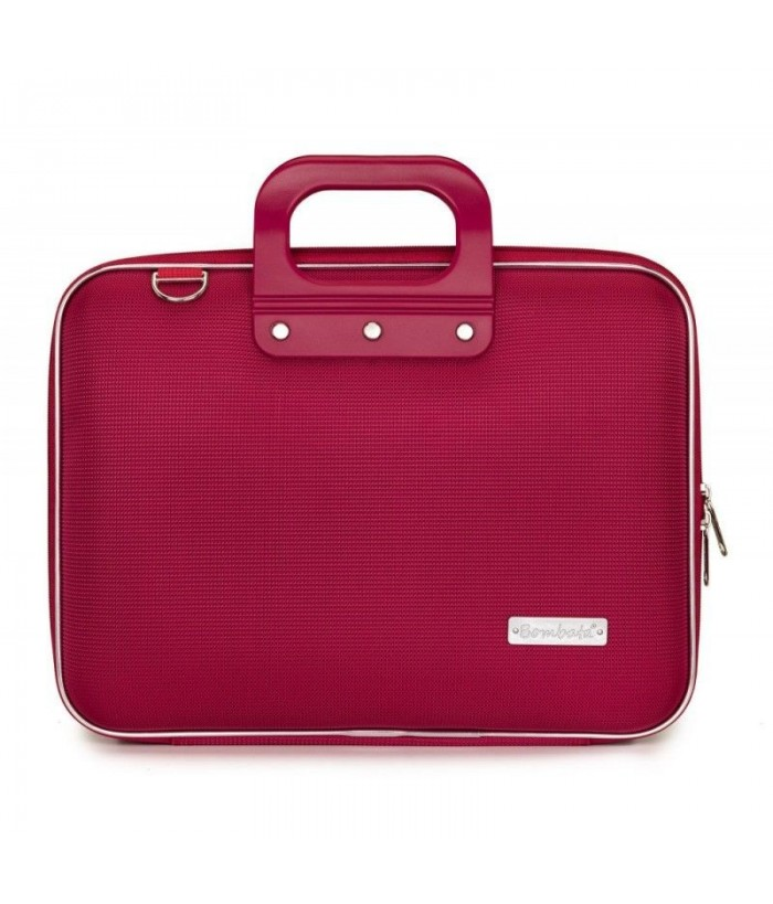 Geanta lux business laptop 13 in Nylon Bombata-Rosu