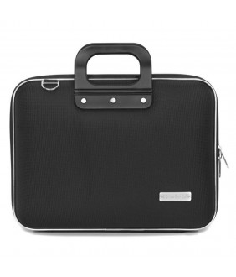 Geanta lux business laptop 13 in Nylon Bombata-Negru