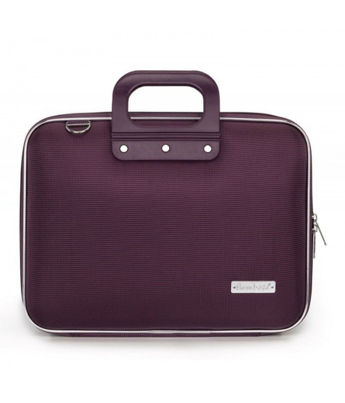 Geanta lux business laptop 13 in Nylon Bombata-Violet