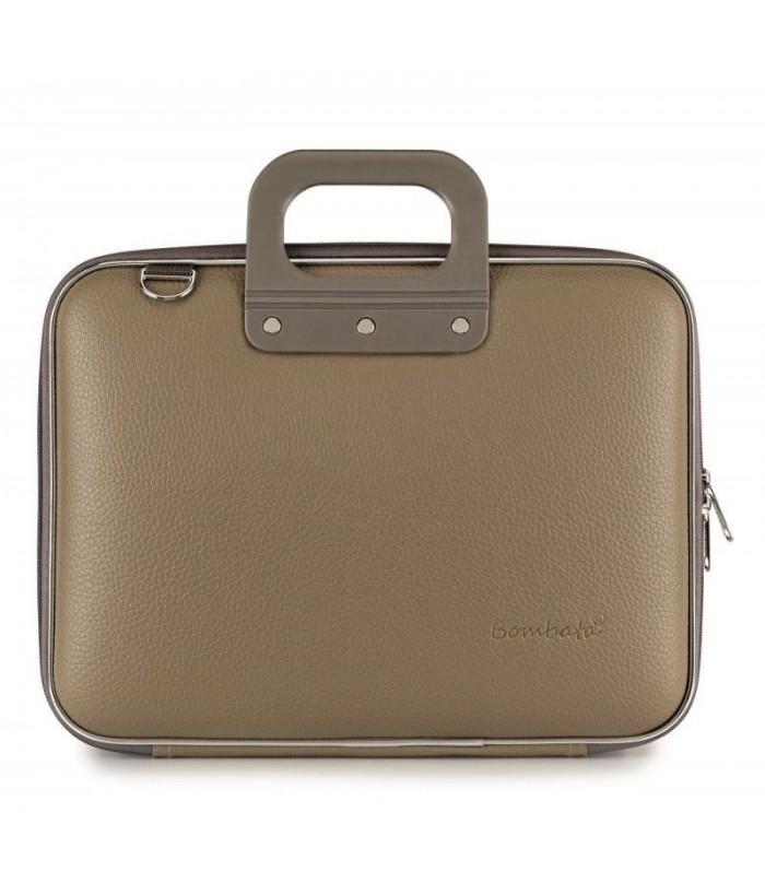 Geanta lux business laptop 13 in Medio Bombata-Grej