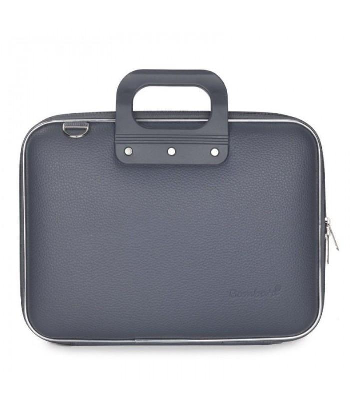 Geanta lux business laptop 13 in Medio Bombata-Gri