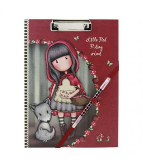 Gorjuss Clipboard cu planificator - Little Red Riding Hood