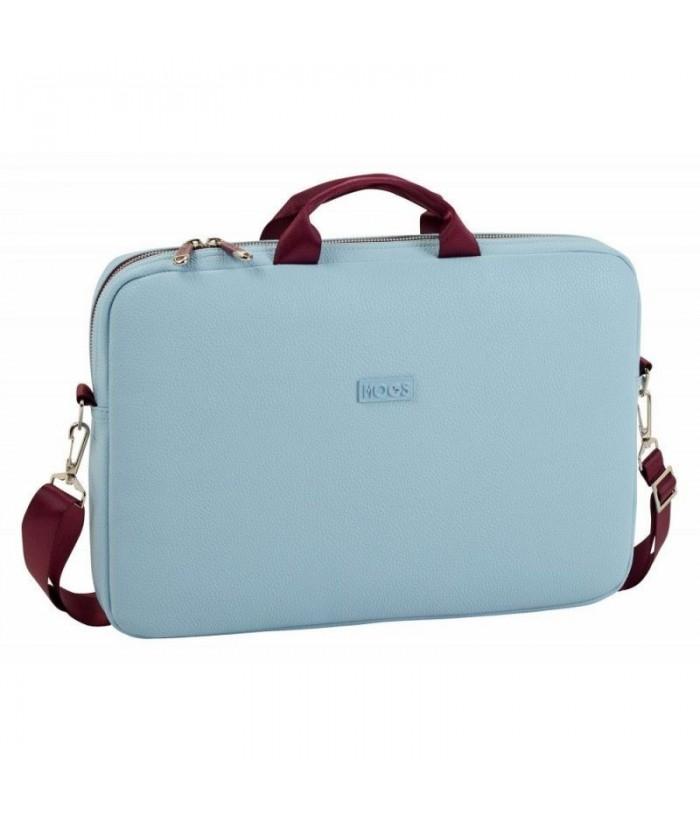 Geanta laptop 15.6 MOOS Capsula bleu