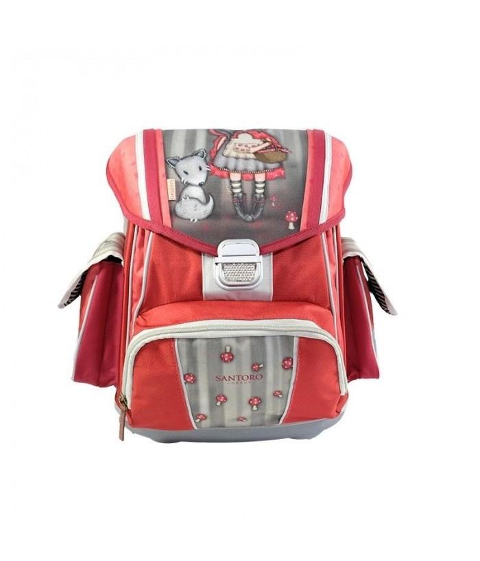Gorjuss-Ghiozdan ergonomic rigid-Little Red Riding Hood