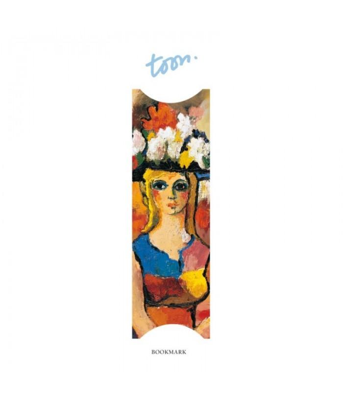 Semn de carte Marie with flower hat-Toon Hermans