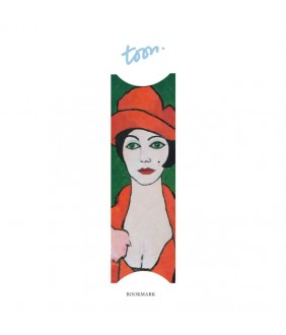 Semn de carte Lonely woman in poppy red-Toon Hermans