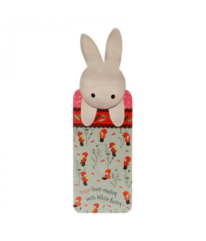 Poppi Love Semn Carte White Bunny