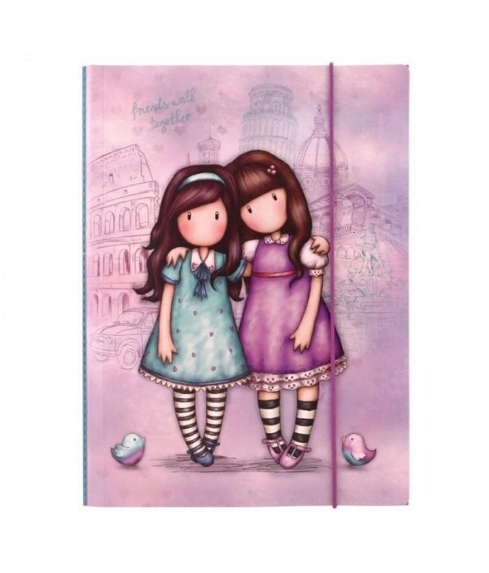 Gorjuss Cityscape Dosar cu elastic - Friends Walk Together