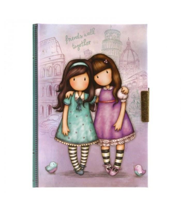 Gorjuss Cityscape Jurnal cu cheita - Friends Walk Together