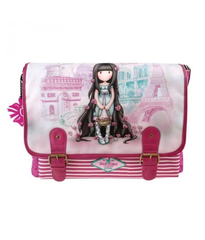 Gorjuss Cityscape geanta scoala - Rosebud