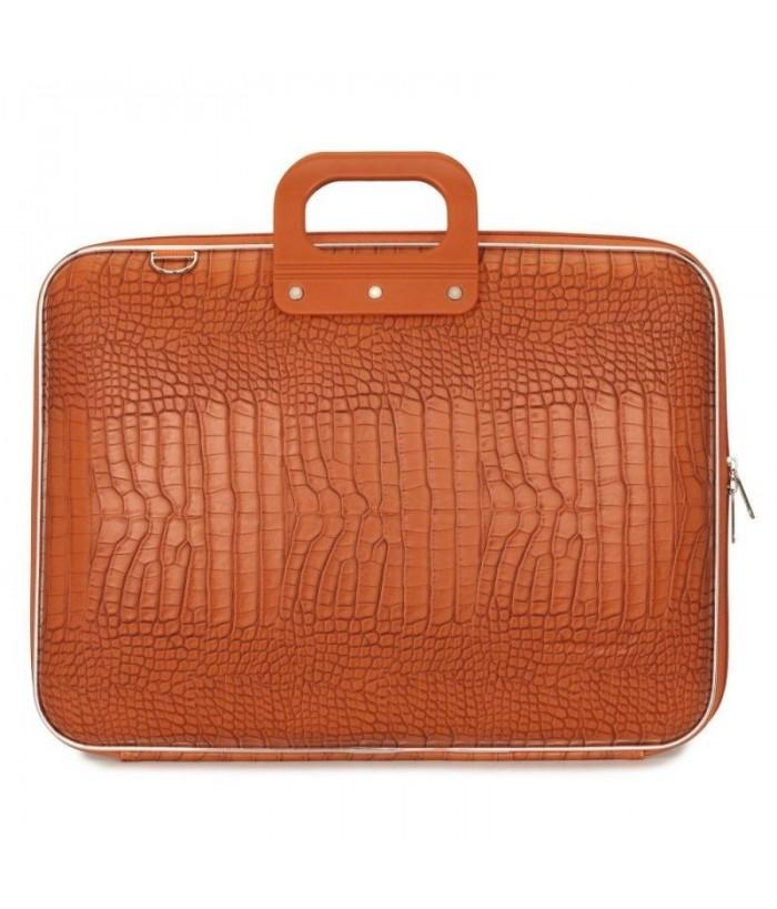 Geanta lux business laptop 17 in Cocco-Portocaliu