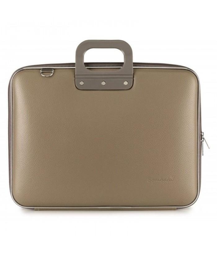 Geanta lux business laptop 17 in Maxi Bombata-Grej