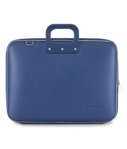 Geanta lux business laptop 17 in Maxi Bombata-Albastru cobalt