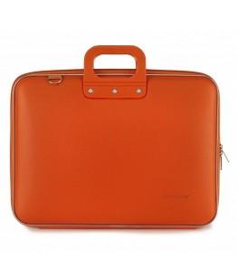 Geanta lux business laptop 17 in Maxi Bombata-Portocaliu