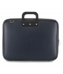 Geanta lux business laptop 17 in Maxi Bombata-Albastru inchis