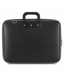 Geanta lux business laptop 17 in Maxi Bombata-Negru
