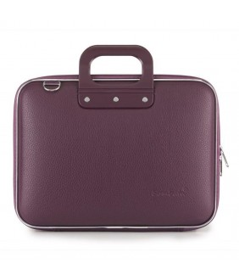 Geanta lux business laptop 13 in Medio Bombata-Mov inchis
