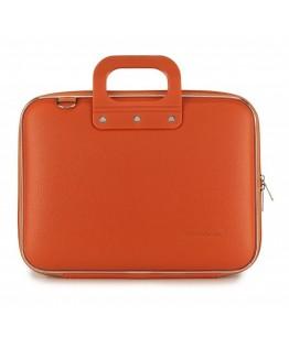 Geanta lux business laptop 13 in Medio Bombata-Portocaliu