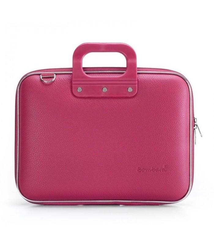 Geanta lux business laptop 13 in Medio Bombata-Roz inchis