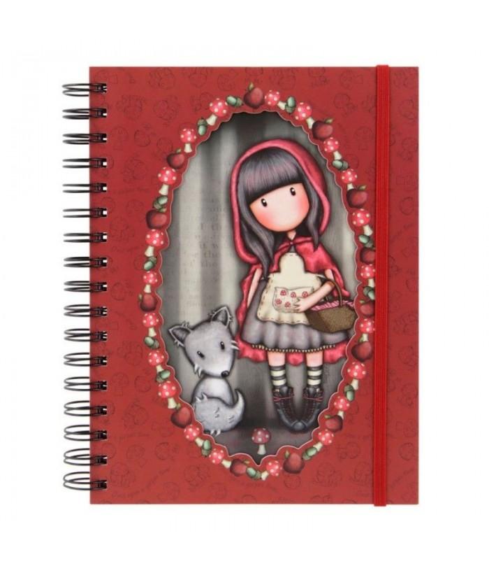 Jurnal cu spira Gorjuss Little Red Riding Hood