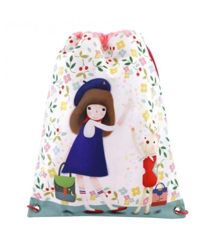 Sac Scoala Kori Kumi Drawstring Bag Bon Voyage