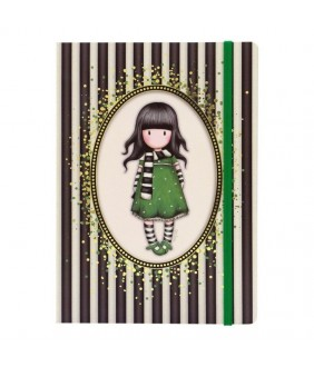 Gorjuss Stripes Agenda A5 cu folie aurie - The Scarf