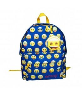 Ghiozdan simplu Emoji Little faces bleu