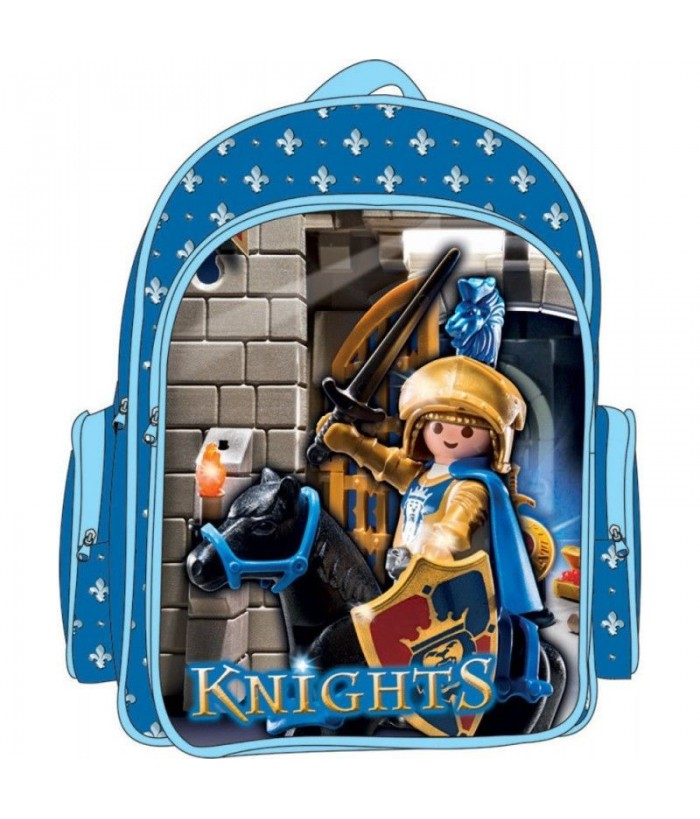 Ghiozdan Playmobil pentru gradinita - Cavaleri