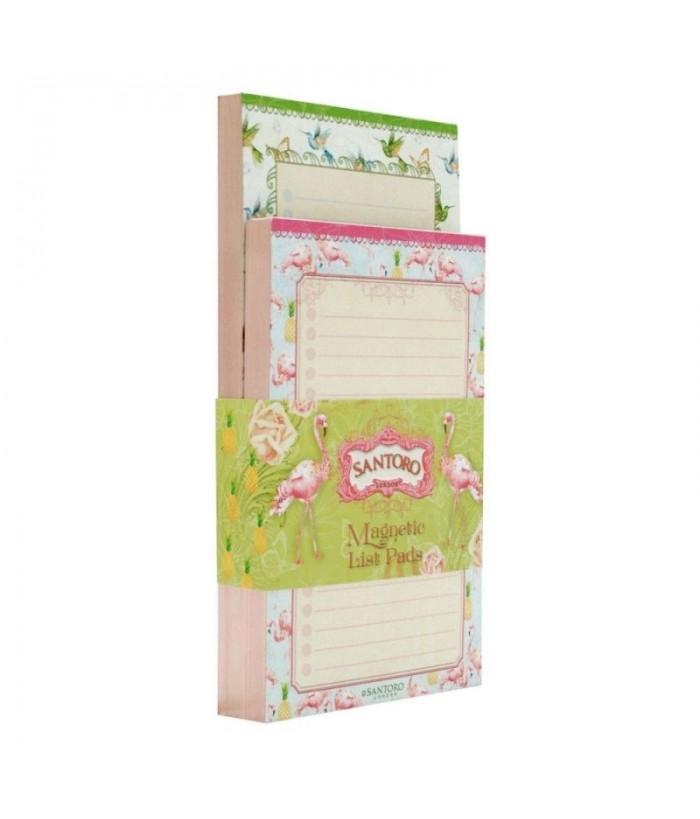 Set 2 carnete magnetice Flamingo
