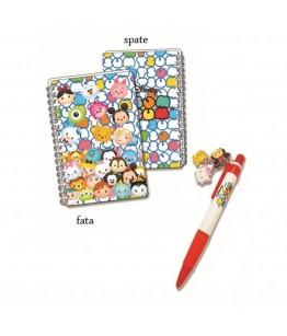 Mini jurnal 3D cu pix rosu Tsum Tsum