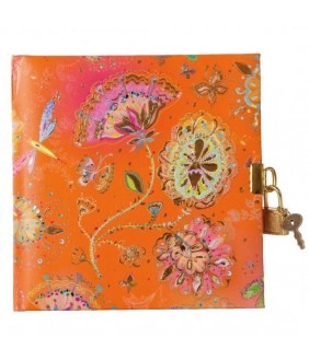 Jurnal lacatel Goldbuch Silver Moon orange 17x17 cm