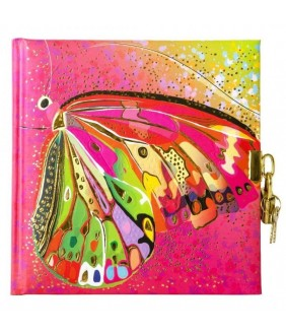 Jurnal lacatel Goldbuch Flower pink Butterfly 17x17 cm